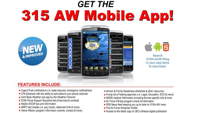 315th AW Mobile App