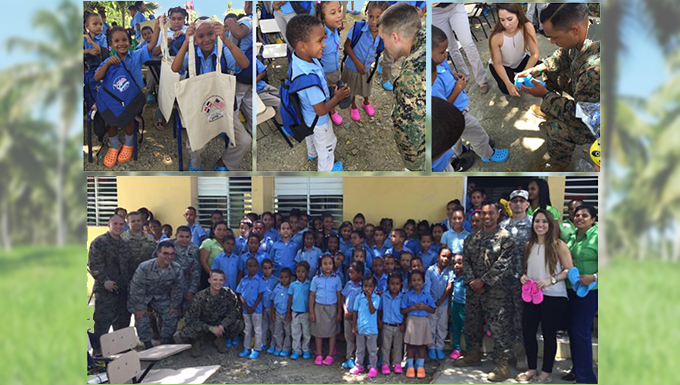 Reservists bring new shoes, smiles to Dominican Republic children